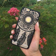 Mahalo Black Dreamcatcher Phone Case