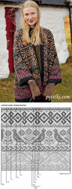 New Knitting Patterns Cardigan Women Fair Isles 58 Ideas Fair Isle Knitting Patterns, Fair Isle Pattern, Sweater Knitting Patterns, Knitting Stitches, Knitting Designs, Knit Patterns, Knitting Charts, Easy Knitting, Sock Knitting