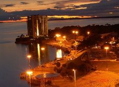 Pôr do sol na Ponta Negra. Manaus/AM