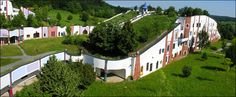 The Hundertwasser green roof gardens post production.