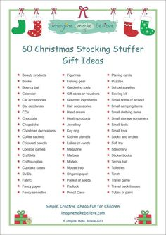 christmas stocking stuffer ideas - Christmas Lists 2014