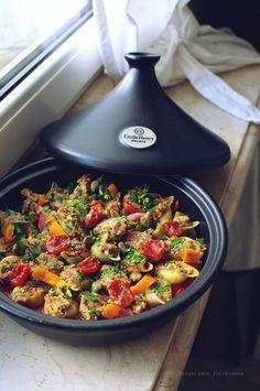 Smaki Alzacji : Muszle w pomidorach z farszem wieprzowo słonecznik...