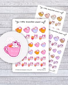 Excited to share the latest addition to my shop: Coffee Planner Stickers, Charlie the Cat Sticker Set for Coffee Lovers - Hand Sticker, Sticker Paper, Little Kitty, Cat Stickers, Coffee Lovers, Travelers Notebook, Planner Stickers, Card Making, Stationery