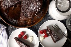 valerie's french chocolate cake from @smitten kitchen--only 1/3 of a cup of flour, would be super easy to make #glutenfree!