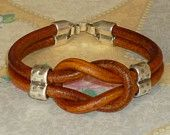 Celtic Love Knot European Leather Bracelet - Unisex - Whiskey Brown - Celtic Leather Bracelet - Celtic Knot Bracelet Featured in this new Etsy Treasury: https://www.etsy.com/treasury/MjQ1OTY5ODR8MjcyNDgwMTA3Mw/whiskey-brown