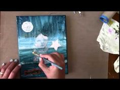 Girl in the sea Art painting Collab Cinnamon Cooney Part 2