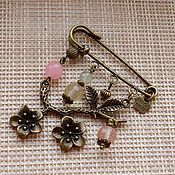 булавка Old Jewelry, Heart Jewelry, Wire Jewelry, Jewelry Crafts, Jewelry Making, Safety Pin Jewelry, Kilt Pin, Flower Brooch, Bar Necklace