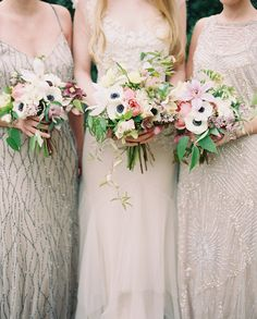 Springtime Maidens via Once Wed. Photography: Rylee Hitchner // Styling & Design: Ginny Au // Flowers: Cloth of Gold