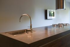 Keuken verbau betonstuc in kleur op maat verbau betonstuc