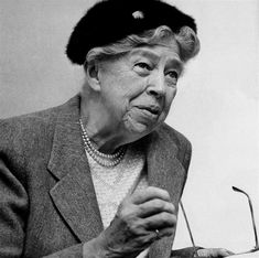 Eleanor Roosevelt in 1957, twelve years after her husband's death. Photo by the Associated Press.
