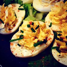 """These #Cajun spiced deviled #eggs make perfect #appetizer"" Photo taken by @yi_reservation on Instagram, pinned via the InstaPin iOS App! http://www.instapinapp.com (04/07/2015)"
