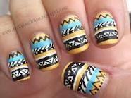 i love these tribal print nails. Tribal Print Nails, Aztec Nail Art, Tribal Nail Designs, Tribal Nails, Love Nails, How To Do Nails, Fun Nails, Pretty Nails, Nail Patterns