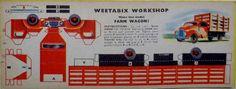 1950s Weetabix Workshop Series 6 Farm Wagon