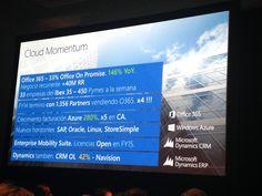#Cloud Momentum - #wpc14 #raona #microsoft #partner #ms #technology #tecnologia #office365 Linux, Microsoft, Office 365, Clouds, Tecnologia, Linux Kernel, Cloud
