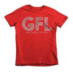 KIDS GFL T-SHIRT STACKED LOGO GREY