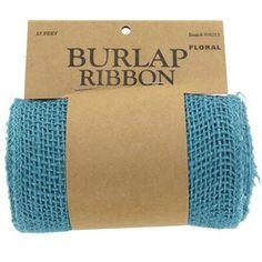 "5 1/2"" Turquoise Burlap Ribbon   Shop Hobby Lobby"