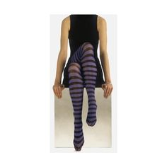 Jonathan Aston Ringers Tights - Pantyhose, Stockings and more -... ($13) ❤ liked on Polyvore