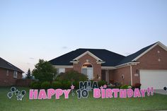 Mia turned ten and her family surprised her with a fun & fabulous birthday yard sign! Birthday Yard Signs, Boy Birthday, Lawn Sign, Fabulous Birthday, Host A Party, Special Day, Boy Or Girl, Fun, Fin Fun