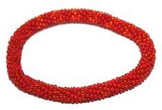 Glass Bracelet Nepal Bracelet Roll on Bracelet Crochet Bracelet Glass Bead Bracelet Friendship Bracelet 333