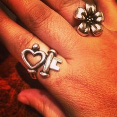 Key to My Heart Ring and Flower Ring from James Avery Jewelry #jamesavery | instagram viewer