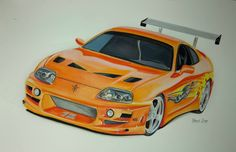 """Toyota Supra from the movie """"The Fast And The Furious"""""""