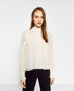 PLUMETIS TOP-View All-TOPS-WOMAN-COLLECTION SS/17 | ZARA United States