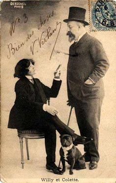 Colette and Willy    (http://theredlist.fr/wiki-2-24-525-770-810-view-1920s-4-profile-colette.html#photo)