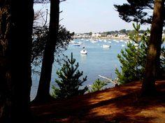 Larmor Baden vu de l'île Berder