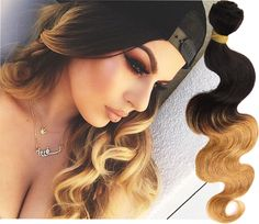 50g/Bundle 1b27# Ombre Body Wave 100% Real Human Hair Extension Remy Hair Wefts #WIGISS #HairExtension