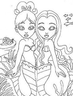 MermaidTattooSketch