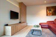 TV-meubel te Zonhoven Tv Wand, Ikea Malm, Diy Cabinets, Living Room, Modern, House, Inspiration, Furniture, Design