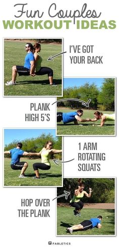 #2. The Couples Workout -- This is so much fun, and can help bring you and your partner closer together!