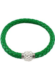Green+Weave+Diamond+Bracelet+4.93