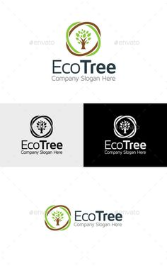 Eco Tree - Logo Design Template Vector #logotype Download it here: http://graphicriver.net/item/eco-tree-logo/11317840?s_rank=913?ref=nexion