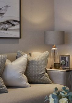 Case study: Sophie Paterson talks to The LuxPad about one of her latest projects, a Chelsea pied-à-terre oozing with refined yet understated glamor. Gray And Taupe Living Room, Cream Living Rooms, My Living Room, Living Room Interior, Home And Living, Interior Exterior, Home Interior Design, Snug Room, Room Colors