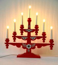 Swedish Christmas candelabra from Gnosjo Konstsmide circa 1980's. $32.00, via Etsy.