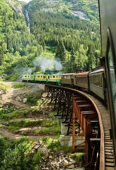 Alaska - THE BEST TRAVEL PHOTOS - We took this train from Skagway, Alaska. Places To Travel, Places To See, Places Around The World, Around The Worlds, Belle Villa, Alaska Travel, Alaska Usa, Alaska Trip, Train Rides