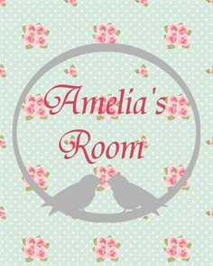Printable Personalised Children's Room Wall Art 'Shabby Chic' | The Paper Princess | madeit.com.au
