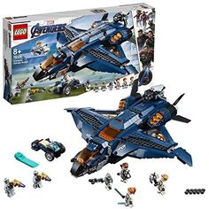Buy LEGO Super Heroes: Avengers - Ultimate Quinjet at Mighty Ape NZ. LEGO Super Heroes: Avengers – Ultimate Quinjet Team up with the Avengers and fly into conflict against the Chitauri in the LEGO® Marvel Aveng. Lego Marvel's Avengers, Lego Batman, Minifigura Lego, Lego Age, Avengers Team, Buy Lego, Legos, Batman Logo, Films Marvel