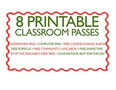 8 Printable Middle School Classroom Passes for Behavior Incentives Classroom Passes, Classroom Coupons, Middle School Classroom, Classroom Management, Classroom Ideas, High School, Homework Pass, Behavior Incentives, Geography Lessons