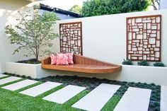Modern  by Outhouse Design. Floating garden bench