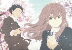 Anime Koe No Katachi Shouya Ishida Shouko Nishimiya Fondo de Pantalla