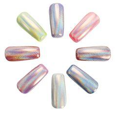 Holographic Laser Nail Art Powder Holo Effect DIY Powders Silver Pigment Hologram Rainbow at Banggood Gel Nail Polish, Gel Nails, Holographic Powder, Rainbow Nail Art, Nail Effects, Nail Art Tools, Hologram, Nail Designs, Silver