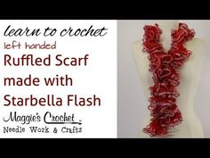 Knitting Patterns Scarf Crochet Super Easy Ruffled Scarf using Starbella Flash Yarn Crochet Ruffle Scarf, Crochet Scarves, Crochet Shawl, Crochet Yarn, Hand Crochet, Free Crochet, Ruffle Yarn, Double Crochet, Crochet Clothes