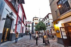 Santa Cruz, Today a Popular Tourist Neighborhood, is the Former Jewish Quarter in Seville, Spain