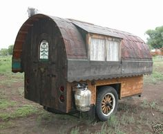 Gypsy wagon, I would love this but my husband says it wouldn't be allowed on the roads?