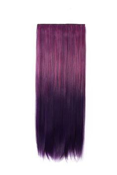 OneDor Straight - Full Head Dip-dye Two Tone Color Synthetic Clip In Hair Extensions inches-Straight, Purple Ombre Buy Wigs, Purple Ombre, Clip In Hair Extensions, Dip Dye, Red Hair, Favorite Color, Hair Color, Things To Come, Long Hair Styles