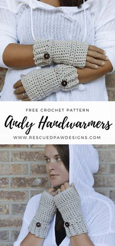ANDY CROCHET HAND WARMERS ⋆ Rescued Paw Designs Crochet by Krista Cagle