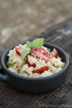 Clean Eating Garlic Parmesan Quinoa