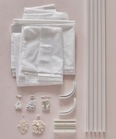 An aerial view of the IKEA VIDGA track rail system arranged on a pink surface. - Ikea DIY - The best IKEA hacks all in one place Canopy Bed Curtains, Ceiling Curtains, Diy Canopy, Diy Curtains, Hanging Curtains, Ikea Canopy, Cama Ikea, Bed Ikea, Coat Closet Organization